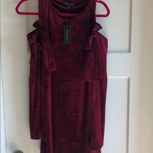 NWT Long Sleeve Velvet Dress
